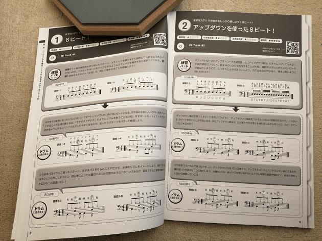 ドラム練習パッドフレーズレシピ 内容1