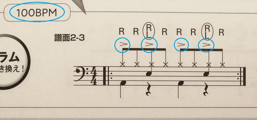 ドラム練習パッドフレーズレシピ 内容3