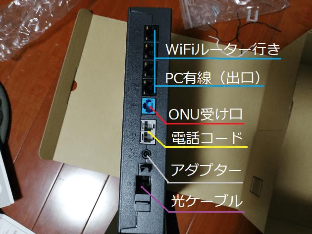 NTT光電話ルーター接続